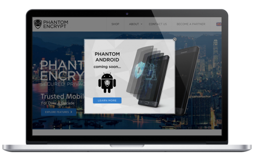 Phantom Encrypt Website Development